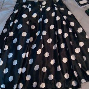 Black and White full skirt